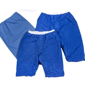 Pjama bedwetting shorts starter kit including two Pjama shorts, one waterproof bag, washable, incontinence aid
