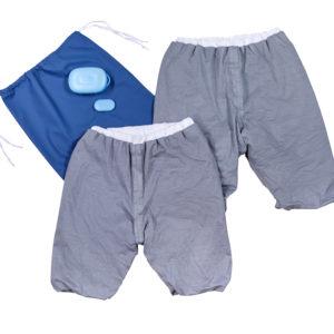 Pjama treatment shorts starter kit including two Pjama shorts, sensor, bedwetting alarm