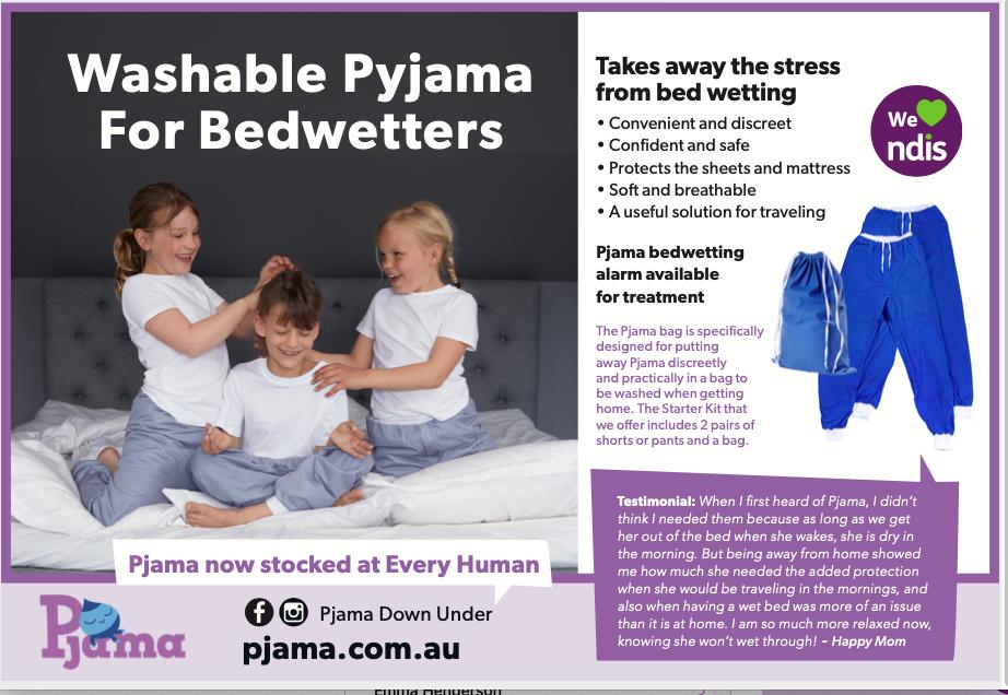 Source Kids Magazine Spring Issue |Source Kids Love Pjama Stay Dry Discreetly